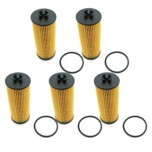 5x Oil Filter Kits For Chrysler Dodge Jeep Ram Routan 3.6L 2011-2013 68079744AC