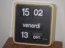orologio vintage a cartellini flip clock BODET tipo solari  da parete perfetto