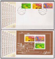 Surinam / Suriname 1978 FDC 25+a Airplane rice flugzeuge avion rice reis riz