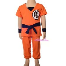 Dragon Ball Z Son Goku Fancy Costumes Set Outfit Halloween Party Size 2T-8 FC046