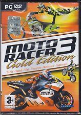 PC Gioco «MOTO RACER 3 ~ GOLD EDITION» nuovo Italiano