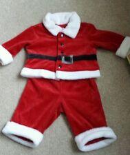 Cherokee Infant Baby Boys Santa Christmas 2 Piece Red Velvet Set Size 3 Months