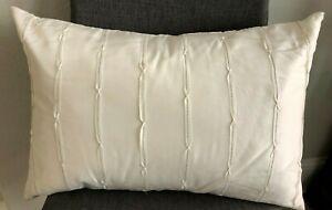 "Vera Wang Silk Passementerie Decorative Pillow Brand New 15"" x 20"" Ivory"