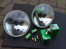 "Triumph Spitfire  7 "" Halogen Conv Sealed Beam Replacment Headlamps Inc Pilots"