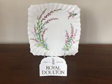 Royal Doulton BELL HEATHER SCALLOPED Square Cake Plate