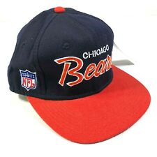 Vintage Chicago Bears Wool Fitted Hat Cap 6 7/8 Blue Sports Specialties Script