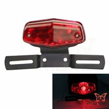 Custom Lucas Style License Plate Brake Tail Light For XS650 Bobber Cafe Racer