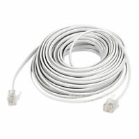 10M 33Ft Length 6P2C RJ11 Male Phone Telephone Extension Cable Cord White