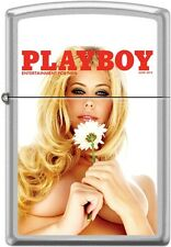 Zippo Playboy June 2014 Cover Satin Chrome Windproof Lighter NEW RARE