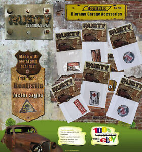 Rusty Realystic Metal Signs - Choose Model and Scale 1/18 or 1/43