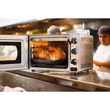 Horno Electrico Pequeños De Cocina Acero Inoxidable Portatil Con Bandeja