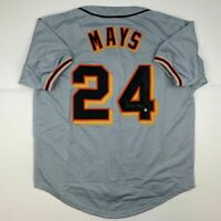 Autographed/Signed WILLIE MAYS San Francisco Grey Jersey Say Hey COA Hologram