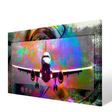 Flugzeug Bunt Bild Leinwand Abstrakte Kunst Bilder Wandbilder Kunstdruck D1521
