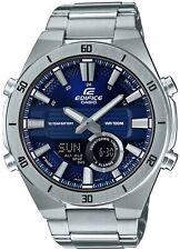 Casio Edifice Slim Style Blue Dial Silver Steel Quartz Mens Watch ERA-110D-2AVEF