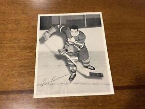 1945/54 Quaker Oats Hockey Photo - Toronto, Leo Boivin, Action, Dark Jersey
