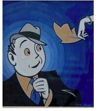 """JOHN BLISS (1909-1982) Gouache Illustration Art  23"""" X 21"""" Mid-Century Art"""