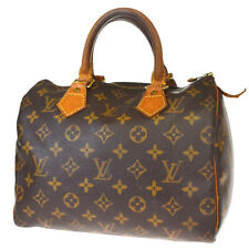 Authentic LOUIS VUITTON Speedy 25 Hand Bag Monogram Leather Brown M41528 69BP295