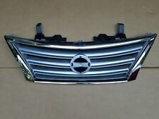 fits 2013-2015 NISSAN SENTRA S SL SV Front Bumper Grille Silver & Chrome NEW