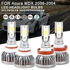 Combo LED Headlight Bulbs Kit 9005 H11 High Low Beam For  Acura MDX 2006-2004