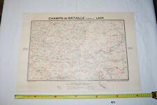 AF1 Carte - Champs de Bataille de l Yser - Laon