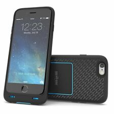 IPhone 6S/6 Dog & Bone Wireless Caricabatterie Batteria Custodia Cover + Pad-Nero/Blu
