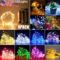 4Pack 2M-10M 20LEDs-100LEDs AA Battery Operated LED Fairy String Light Decor