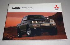 Owner ´S Manual / Manual Mitsubishi L 200 Tipo K60T Single / Doble Cabina 2004