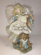 Very Rare Cherished Teddies 0000978 Blond Angel Basket Flowers Feather Wings 7