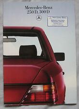 1986 Mercedes 250D & 300D Brochure Pub. No. MKP 6701-0101-02-03/0885