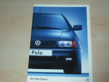 37214) VW Polo Classic Prospekt 11/1996