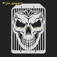 New Skull Radiator Grille Cover Guard Protector For Kawasaki Vulcan Motorcycle