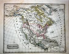 USA, MEXIKO,TEXAS, CANADA,  steel engraved colored  map by F.Biller, 1847