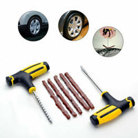 Hot Car Tubeless Tyre Tire Puncture Repair Plug Kit Cement Tool Needle Patc I0O4