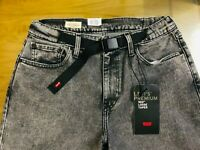 LEVI'S 562 Loose Tapered Men Jeans built in Belt Fashion Levis 30 in, 31 in