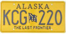 *99 CENT SALE*  2015 Alaska Last Frontier License Plate #KCG220 No Reserve