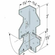 Simpson Strong Tie A35 1 716 X 4 12 Framing Angle Pack Of 10