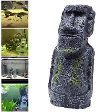 Easter Island Mini Statue Accessory Pipe Fish Tank Aquarium Decoration Ornament