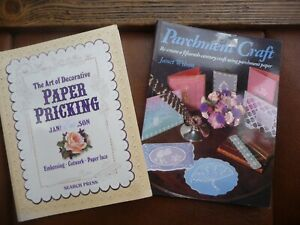 parchment craft paper pricking books by janet wilson  lot 2  code v