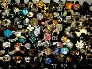 WHOLESALE   Ring  lot  50 PIECES Rhinestone Crystal Accent