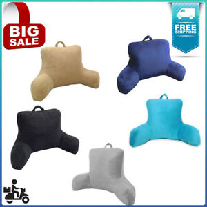 PLUSH BACKREST PILLOW Bed Cushion Back Support Reading Chair Lounger, Bed rest