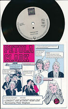 "PETULA CLARK 45 TOURS 7"" GERMANY I COULDN'T LIVE WITHOUT YOU LOVE '89 MIX"