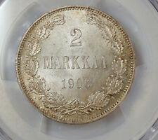 FINLAND 2 MARKKAA 1906 L PCGS MS64