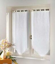 Rideaux et cantonnières voilages modernes blancs pour la maison