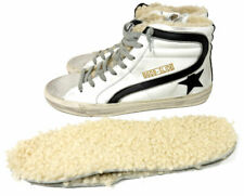 GOLDEN GOOSE Slide High Top Sneakers Flat Fur Lined Skating Shoes 41 Skateboard