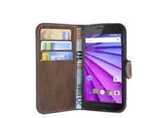 Style Livre Étui de Portable Etui en Marron pour Motorola Moto G (3.generation)