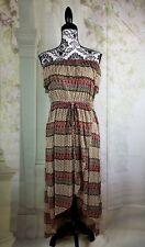 Forcynthia women's tube dress geometric print size medium tie waist bb11