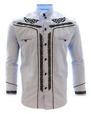 Men's Charro Shirt Camisa Charra El General Western Wear Baby Blue Long Sleeve