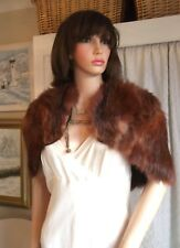 Antique Vintage 1920s 30s red fox real genuine fur capelet wrap Miss Fisher 8-10