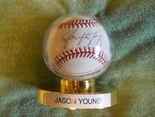JASON YOUNG AUTOGRAPHED SIGNED BASEBALL Colorado Rockies Pitcher