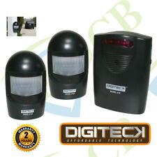 A9BB WIRELESS DRIVEWAY ALERT Chime WEATHERPROOF PIR Motion Sensor Garage Alarm